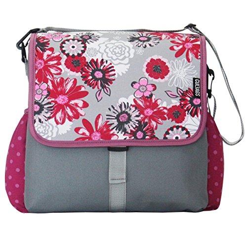 C-BAGS BETSIE single MEADOW & DOTS Gepäckträger Fahrradtasche Tasche verschiedene Muster pink-rose
