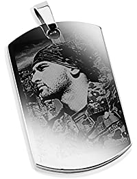 Diamandi Dog-Tag personal photo engraving | Chain pendant picture & text engraving
