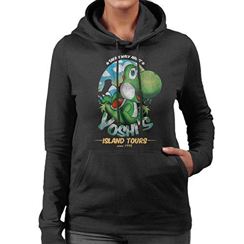 Super Mario Yoshis Island Tours Women's Hooded Sweatshirt Black