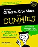 Microsoft Office v. X for Macs For Dummies (For Dummies Series)