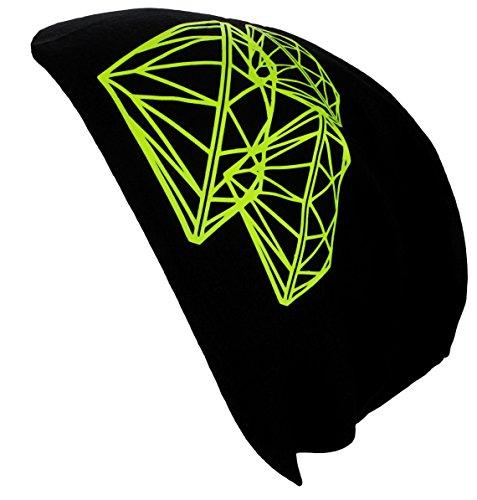 Jersey Long berretto Primavera/Estate Beanie/Berretto Uomo Bambini da donna Nero  Diamant Neongelb