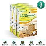 Hanneforth Glutenfreie Brotbackmischung für Vollkornbrot – 3x400gr Vital-Vollkorn Backmischung – Milch- und Laktosefreie Brotmischung – Ohne Zusatzstoffe – Perfekt bei Zöliakie und Laktoseintoleranz