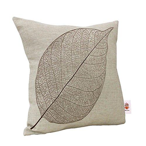 Nunubee Baumwolle Leinen Platz Dekorative Akzente Setzen Fall Sofa Kissenbezug Blatt