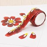 YELOWKIS Washi Tape Blütenblatt-Aufkleber-Material Kirschblüten-frisches und Papierband-Wind-Farbband-Diy Dekoration, Jasmin-Blume