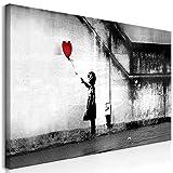 murando Wandbild Mega XXXL Banksy 170x85 cm Einteiliger XXL-Format Kunstdruck zur Selbstmontage Leinwandbilder Moderne Bilder DIY Wanddekoration Wohnung Deko Mädchen mit Ballon i-C-0113-ak-e