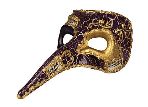 Halloweenia - Herren Kostümzubehör: Venezianische Maske mit Nase, (Maske Mit Pferd)