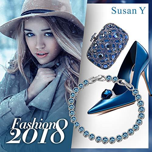 c781f2faede2 Susan Y Pulsera Mujer con Azul Cristales de Swarovski Regalos ...