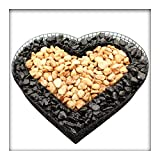 Herz Gitter Grabschmuck Grabgestaltung 8 cm Hoch mit rotem u. schwarzem Kies