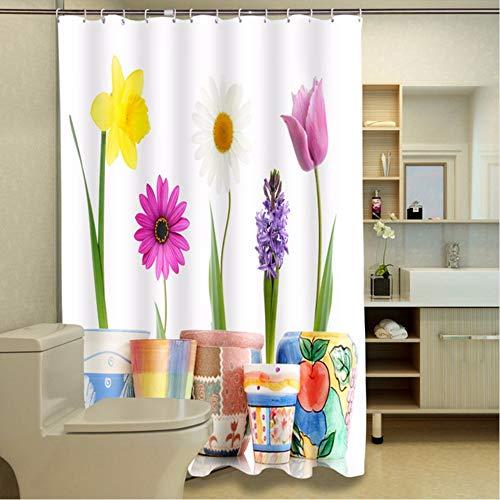 hysxm Topfpflanzen Fotodruck Duschvorhang Trennwand Vorhang-180(H)*180(W) cm
