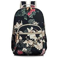 Leaper Water-Resistant Floral School Backpack Travel Bag Bookbags Women Satchel
