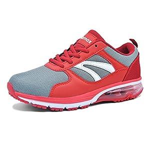 Knixmax Damen Sportschuhe Air Turnschuhe Outdoor Fitness Trekking Running Sneaker Leichte Laufschuhe Schwarz Blau Rot 36-41EU