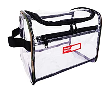 Rough Enough Transparent Large Capacity Toiletry Bag Big Volume Zippered Luggage Toiletry Travel Cosmetic Makeup Bag Kit Box Set Clear Bag With Zipper For Trip,accessories, Shampoo, Personal Items 0
