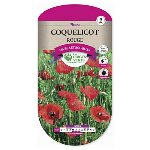 Les doigts verts Semence Coquelicot Rouge