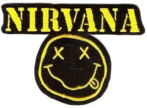 Ecusson brodé Ecussons Thermocollants Nirvana Smiley