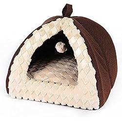 JH& Piel Plegable del Gato de la Perrera de la Mascota desprendible y Lavable Cuatro Estaciones ApplySmall Perro Sitio de la Estera de la Estera del Perro, Brown, los 45 * 45 * 38cm ++