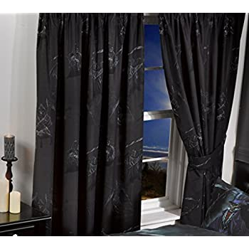 SKULLS LUXURY FULLY LINED READY MADE BEDROOM CURTAINS SET 66\
