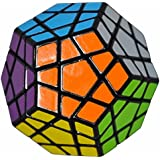 Coolzon® 3x3 Megaminx Cubo Magico Rompecabezas Dodecaedro Speed Magic Cube Juego de Puzzle Cube 40mm,Negro