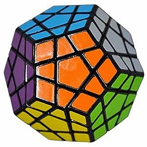 Coolzon® 3x3 Megaminx Cubo Magico Dodecahedron Speed Puzzle Magic Cube Velocità Twisty Giocattolo 40mm,Nero