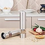 CO-Z Salz und Pfeffermühle 2er Set Elektrisch Automatisch Beleuchtet Edelstahl Küche (2 Stück)