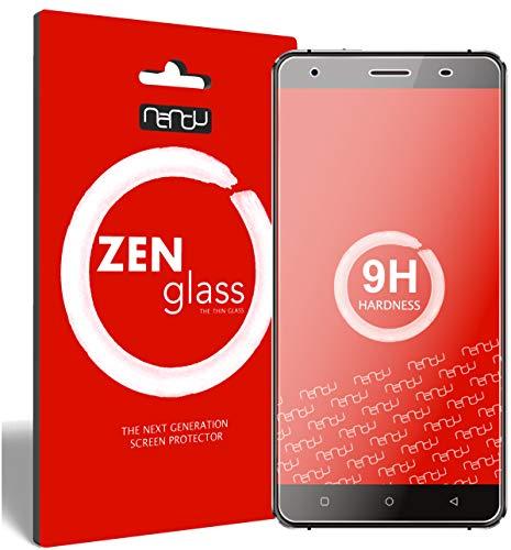 nandu I ZenGlass [2 Stück] Flexible Glas-Folie für Oukitel C5 Pro Panzerfolie I Bildschirm-Schutzfolie 9H I (Kleiner Als Das Gewölbte Bildschirm)