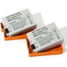 Maxsima - TWIN PACK (X2) High Output, 1352mAh! Battery Pack LP-E8, LPE8 for Canon EOS 550D, 600D, 650D, EOS Rebel T2i, T3i, T4i, Kiss X4, X5.