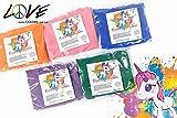Love Colors EINHORN PULVER - Holi Gulal Farb Pulver - Regenbogen-SET (Orange, Pink, Blau, Violett; Grün) / weltexklusives, wasserfeundliches Farbpulver / auch für INDOOR / wasserlöslich, leicht auswaschbar / antiallergen, Lebensmittelfarben / deutsche Produktion (5 Beutel)