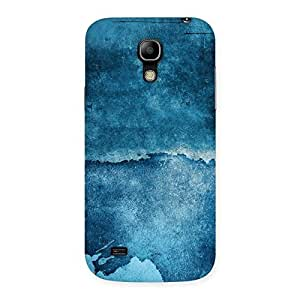 Cute Blue Paint Print Back Case Cover for Galaxy S4 Mini