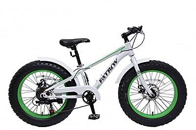 20'' fat bike Kinderfahrrad 20 Zoll STEM Kinder Fatbike Fahrrad weiß grün