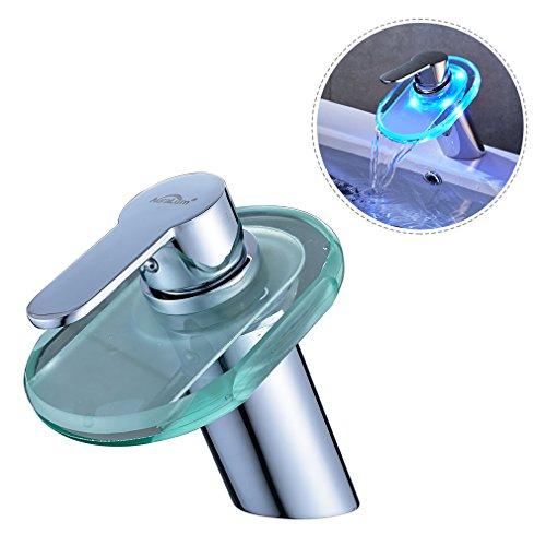 AuraLum® RGB LED rubinetti di vetro, 35mm in ceramica miscelatore