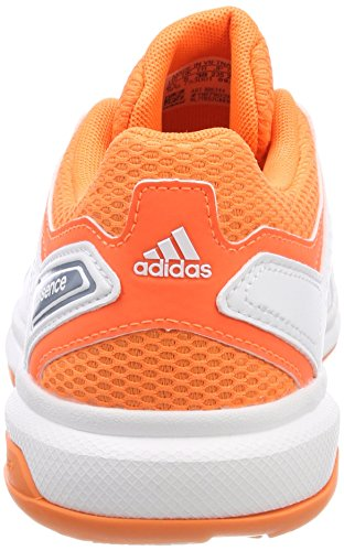 adidas Essence, Chaussures de Handball Femme Blanc (Footwear White/raw Grey/hi-res Orange)