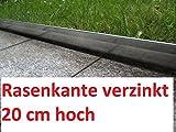 Rasenkante 1 m verzinkt Beeteinfassung Beetumrandung Mähkante Metall Palisade neu