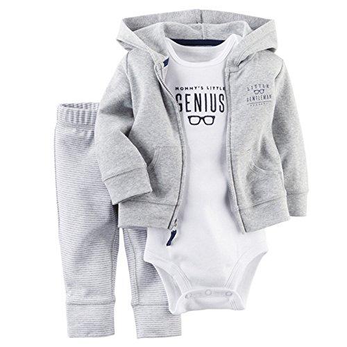 ARAUS Baby Kleidung Set Jungen Romper Langarm Sweatjacke Mädchen Outfits Hoodie Kombination 3-18 Monate (Baby Jungen Kleidung 0-3 Monate)