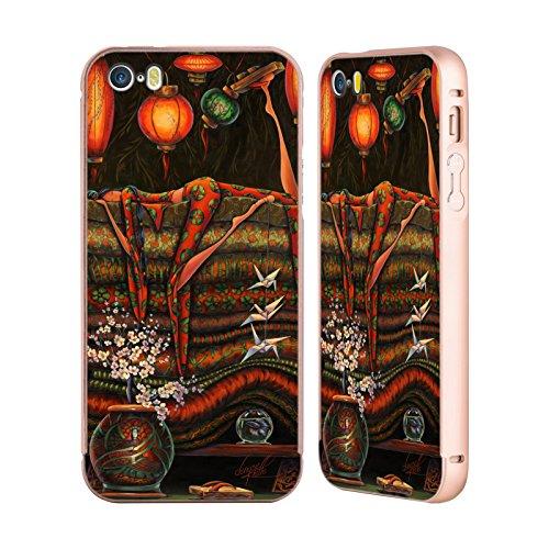 Ufficiale Denyse Klette Prime Nazioni Madre La Principessa E Il Pisello Oro Cover Contorno con Bumper in Alluminio per Apple iPhone 5 / 5s / SE Madre Giappone