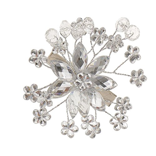 Electroprime® Wedding Bridal Crystal Flower Hairpin Headpiece Headdress Hair Jewelry