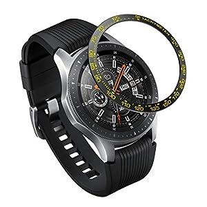 Dkings Kompatibel für Samsung Galaxy Uhr Lünette Ring 46mm, Sportuhr Lünette Abdeckung Anti Ring verhindern Kratzer Lünette Ring Schutz Design für Galaxy Uhr 46mm