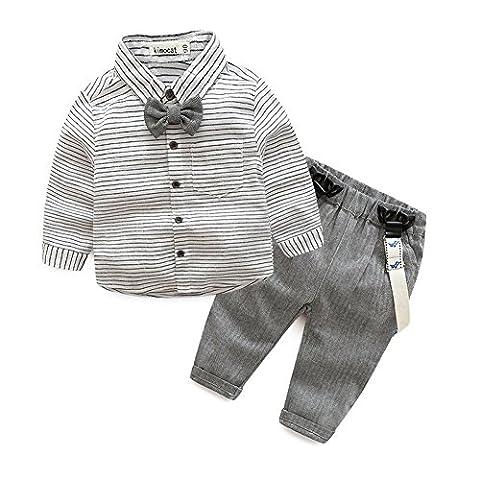 Kinder Baby Kleinkind Jungen Gentleman Baumwolle mit Ärmeln Herbst Kleidung