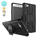 CASSIEY (TM) Tough Heavy Duty Shockproof Military Grade Armor Defender Series Dual Protection Layer Hybrid TPU + PC Kickstand Back Case Cover for Oppo Neo 7 / Oppo A33 - Black