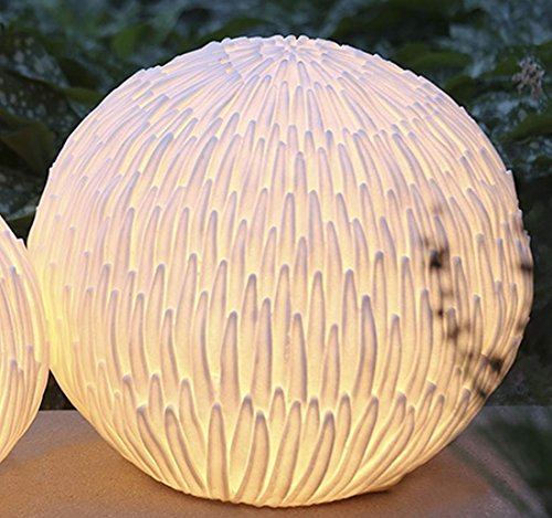 Bodenlampe Blossom creme, Outdoor Kabel: 5m H. 36 cm -