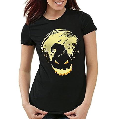 style3 Boogie Man Halloween Damen T-Shirt Nightmare, Farbe:Schwarz;Größe:XL