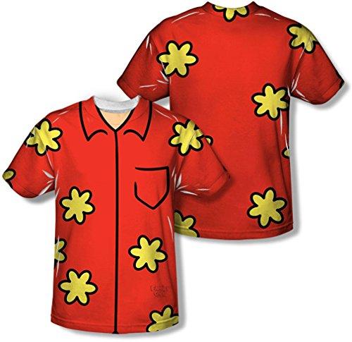 Family Guy - Jugend Quagmire Kostüm (vorne / hinten Print) T-Shirt, X-Large, (Family Kinder Kostüme Guy Für)