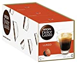 NESCAFÉ Dolce Gusto Lungo | 48 Kaffeekapseln | 100% Arabica Bohnen | Feine Crema und kräftiges Aroma | Schnelle Zubereitung | Aromaversiegelte Kapseln | 3er Pack (3 x 16 Kapseln)