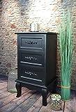 Livitat® Nachttisch Nachtschrank Nachtkonsole Nachschränckchen Nachtkommode Schwarz barock LV4031