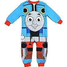 Thomas y and Friends pijama de una pieza con estampa de Thomas Tank Engine con forro