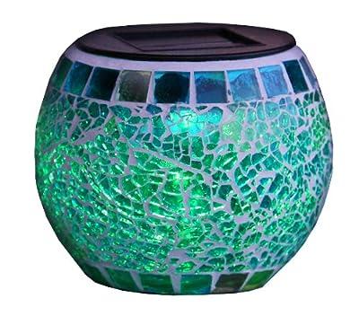 Best Season LED-Solar Deko Mosaic Lantern / 1 RGB LED / mit Solarpanel, inklusiv Akku / outdoor 477-50 von Best Season GmbH auf Lampenhans.de