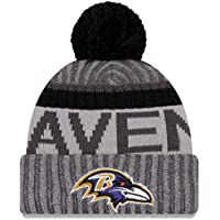 huge discount a025a 576cf ... inexpensive baltimore ravens new era 2017 nfl sport knit cuffed hat  with pom graphite 153a4 21bc4