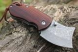 C8P CHENPK05222 Legno di sandalo rosso naturale Fatto a mano Damasco pieghevole coltelli