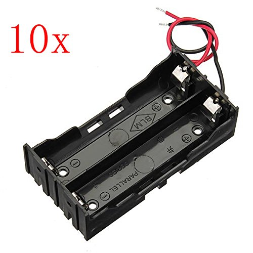 ExcLent 10 Stücke Diy Dc 7,4 V 2 Slot Doppel Serie 18650 Batteriehalter Batterie Box Mit 2 Leads Rohs Zertifizierung