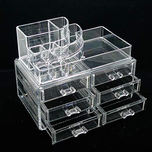 CWYPB Speicher Kassette Schublade Typ Acryl Transparent Creative Schublade Dresser Desktop-Kosmetik-Box (Kassette Speicher-schublade)
