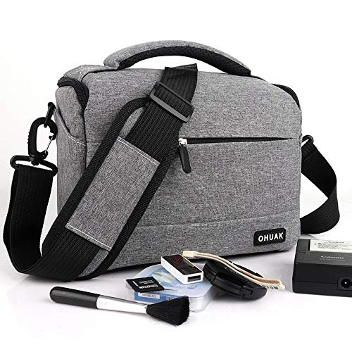 JACKBELLB Tasche für Canon EOS Rebel T7i T6i T6s T6 T5i T5 T4i T3i T3 T2i T1i XTi XSi XS SL1 SL2 750D 100D 600D 1300D M100 M50 Grau (T5 Dslr-kamera Rebel Canon Eos)