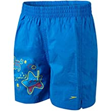 "Speedo Sea Squad 11"" WS IM Bañador, Niños, Azul (Neon Blue / Lava Red), 3-4"